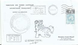 YT 306 Traité Sur L'Antarctique - Gérant Postal De Port Aux Français - Kerguelen - 24/06/2001 - éléphant De Mer - Storia Postale