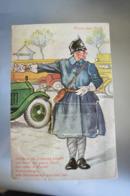 A319 Kłodzko Gruss Aus Glatz Leporello Police Man - Pologne