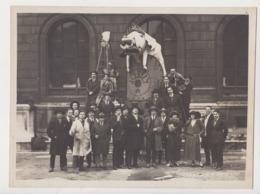 2 Photo PARIS France 1924 Carnaval Etudiants Beaux Arts Architecture Atelier DEFRASSE MADELINE JOSSELY Chars Templier - Luoghi