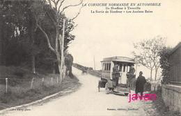 PHOTO: Corniche Normande, Honfleur-Trouville, Photo D'une Ancienne Carte Postale, 2 Scans - Orte