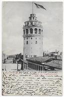 CPA La Tour De Galata, Salut De Constantinople, 1903? - Türkei