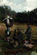 Stilles Gebet Am Grabe Eines In Feindesland Gefallenen Kameraden. 1914/15 WWI WWICOLLECTION - War 1914-18