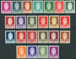 NORWAY 1955--68 Offcial Photogravure Set On Ordinary Paper (23) MNH / **.  Michel 68x-90x; SG O458-88 - Officials
