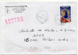 France N° 3299 Y. Et T. Vienne Scorbé Clairvaux Cachet A9 Du 28/02/2000 - 1961-....