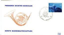 14181714 Belgium 19810912 Genppe Fanfare Cor Fdc Cob2016 - 1981-90