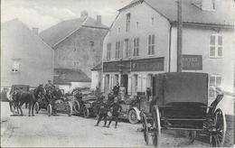 """VIRTON - Hôtel Du Cheval Blanc """"E. Ribonnet"""" - Automobile - Attelage - Circulé: 1919 - 2 Scans. - Virton"""