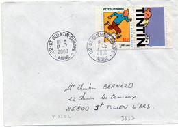France N° 3304 Y. Et T. Aisne St Quentin Europe Cachet A9 Du 17/07/2000 - Marcophilie (Lettres)