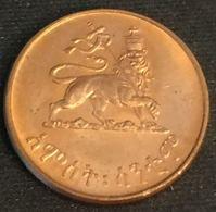 ETHIOPIE - ETHIOPIA - 5 SANTEEM 1936 ( 1944 ) - Hailé Selassié I - KM 33 - Ethiopia