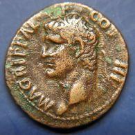 MARCUS AGRIPPA -  37Av.JC - 41Av.JC  -  As De Bronze  -  Rev.: SC - 1. La Dinastia Giulio-Claudia Dinastia (-27 / 69)