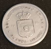 CONGO BELGE - RUANDA URUNDI - 50 CENTIMES 1955 - KM 2 - 1951-1960: Baudouin I