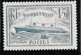 "Yvert 300 ** Paquebot ""Normandie"" Cote 190.- - France"