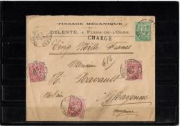CTN61/A - SAGE N°98+N°102 SUR LE CHARGEE FLEURS DE L'ORNE 9/3/1900 - 1876-1898 Sage (Type II)
