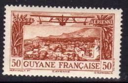 """Guyane P.A.  N° 20 X  Vue De Cayenne, Sans """"RF""""  : 50 C. Brun-jaune Trace De Charnière Sinon TB - Guyane Française (1886-1949)"""