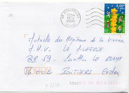 France N° 3327 Y. Et T. Vienne Buxerolles Flamme Muette Du 19/08/2000 - 1961-....