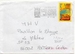 France N° 3330 Y. Et T. Vienne Lencloître Flamme Illustrée Du 08/07/2000 - 1961-....