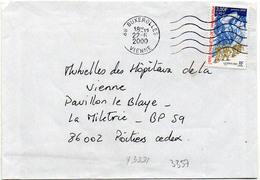 France N° 3331 Y. Et T. Vienne Buxerolles Flamme Muette Du 22/06/2000 - 1961-....