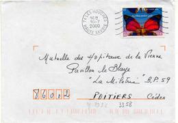 France N° 3332 Y. Et T. Hte Savoie Les Houches Flamme Muette Du 10/07/2000 - 1961-....