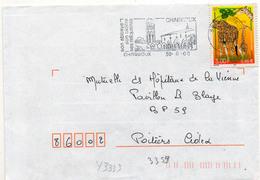 France N° 3333 Y. Et T. Vienne Charroux Flamme Illustrée Du 30/08/2000 - 1961-....