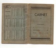 Carnet Avec Quelques Recettes De Pâtisseries Manuscrite Et Tables De Multiplication Au Verso - Old Paper