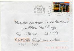 France N° 3338 Y. Et T. Vienne Migné Auxances Flamme Muette Du 29/08/2000 - Marcophilie (Lettres)