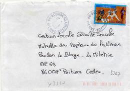 France N° 3340 Y. Et T. Vienne Scorbé Clairvaux Cachet A9 Du 19/09/2000 - 1961-....
