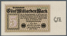Pick115b  Ro112c  DEU-133 - 5 Milliard Mark 1923 ** UNC ** - [ 3] 1918-1933 : Repubblica  Di Weimar