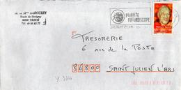 France N° 3344 Y. Et T. Vienne Jaunay Clan Flamme Illustrée Du 13/01/2003 - Marcophilie (Lettres)