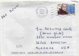 France N° 3349 Y. Et T. Vienne St Julien L'Ars Flamme Muette Du 26/10/2000 - Marcophilie (Lettres)