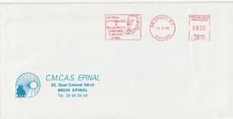 """EMA T 95101 Sur Env. : """"Un Timbre En Hommage à Marcel Paul, CMCAS"""" Epinal RP, 88-Vosges) Du 05-05-1992 (§) - EMA (Printer Machine)"""