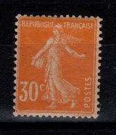 YV 141c N* Semeuse Papier GC Cote 20 Euros - France