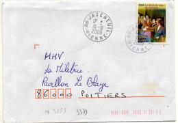 France N° 3353 Y. Et T. Vienne Jazeneuil Cachet A9 Du 16/10/2000 - 1961-....