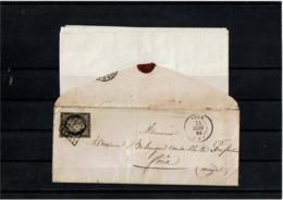 CTN61/A - CERES N°3 SUR LAC SEIX 24/11/1849 DATEUR AVEC MOIS RENVERSE - 1849-1850 Cérès