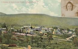 North Creek Village , ADIRONDACKS, New York , 1909 ; Horseshoe Greetings - Adirondack