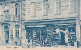 SAINT-AMAND (59). Maison Gillon Jules. Au Bazar Jules Gillon. Horloge. Carte Bleutée - Saint Amand Les Eaux