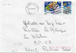 France N° 3365 Y. Et T. Vienne Poitiers CTC Flamme Muette Du 15/12/2000 - 1961-....