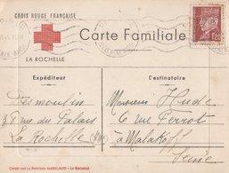 CARTE FAMILIALE. CROIX ROUGE FRANCAISE La Rochelle. Offert Par La Papeterie Marillaud - Croce Rossa