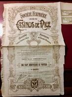 Sté  FERMIÈRE  Des  CASINOS  De  NICE ---------- Part  Bénéficiaire - Casino