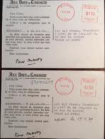 2 Carte Postales, Réception Commande Aux Ducs De Gascogne,Signature Pierre Dubarry, 1979 / Publicité, Gers, 32 - Alimentare