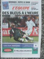 Journal L'Equipe (21 Août 2003) Foot  Suisse-France - Grosjean - Générations Athlétisme - 1950 à Nos Jours
