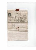 CTN61/A - CERES N°3 (ENTAME) SUR LAC LE MAS D'AZIL 1/4/1850 LETTRE DE CARLA LE PEUPLE (CARLA BAYLE) - 1849-1850 Cérès