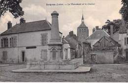 45 - JARGEAU : Le Monument Et Le Clocher - CPA Village (4.550 Habitants) - Loiret - Jargeau