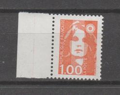 FRANCE / 1990 / Y&T N° 2620a ** : Briat 1F Orange (Variété Sans PHO) X 1 BdF G - Errors & Oddities