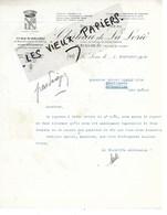 """49 - Maine-et-loire - LA LORIE - Facture Sté DES VINS DU """"CHATEAU DE LA LORIE"""" - 1940 - REF 143B - France"""