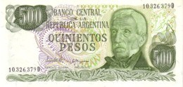 Argentina (BCRA) 500 Pesos 1982 Series D UNC Cat No. P-303c / AR356f - Argentina