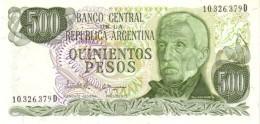 Argentina (BCRA) 500 Pesos 1982 Series D UNC Cat No. P-303c / AR356f - Argentinië