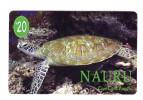 NAURU PREPAYE COM CARD 20$ PACIFIC TORTUE - Nauru