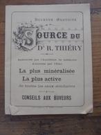SOURCE DU Dr R. THIERY Contrexéville Vosges Médecine - Publicités