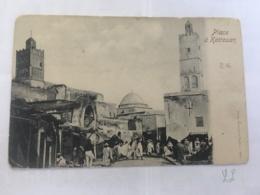 CPA TUNISIE - KAIROUAN - Place à Kairouan - Tunisia