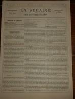 La Semaine Des Constructeurs. N°18.2 Novembre 1878. Wagonnets En Bois Et En Fer. Modes De Couverture. - Livres, BD, Revues