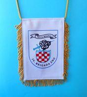 4. GARDIJSKA BRIGADA (Pauci - Split) 1. BOJNA * Croatia Army OLD LARGER Pennant * Flag Croatie Armee Kroatien Croazia - Drapeaux